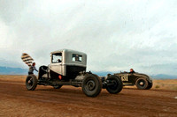 Hot Rod Dirt Drags Paintings & Antique Black and White