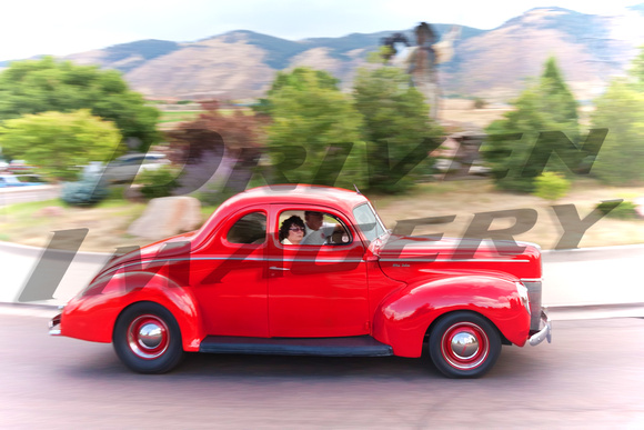 1940 Ford Deluxe Coupe - Red - Painted